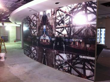 Giant Interior Wall Mural - Client: DigitasLBi 1 of 13 for their new office space