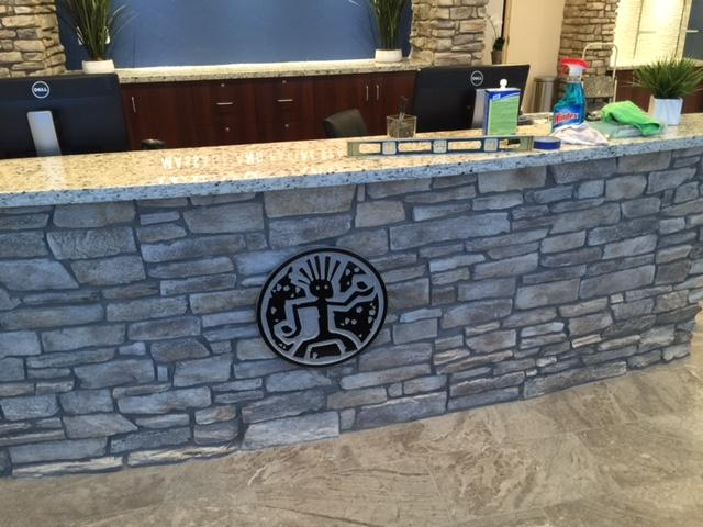 Front Desk with Logo