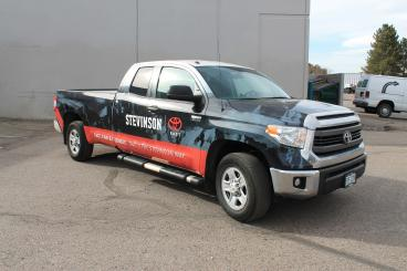 Newest Truck Wrap for Stevinson Auto Denver, CO
