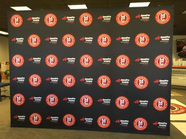 Great looking Memphis City Football Step and Repeat Backdrop