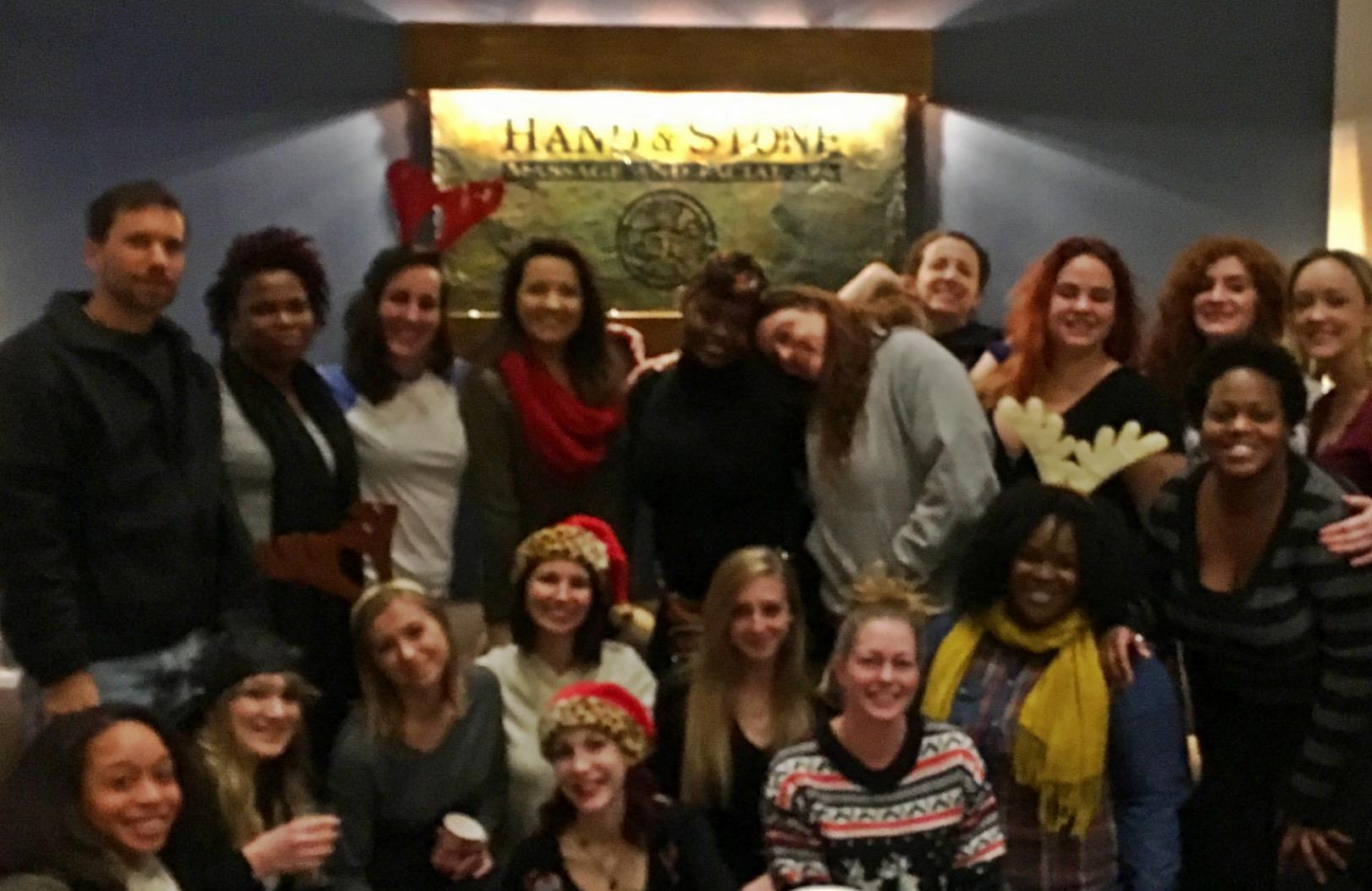 Our faces may be a bit blurry, but the love & Christmas cheer our Carytown team