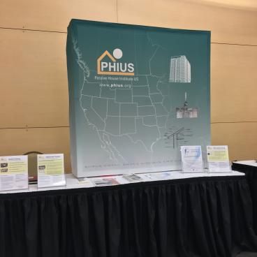 Passive House Institute - PHIUS Pop-Up Tabletop Portable Display