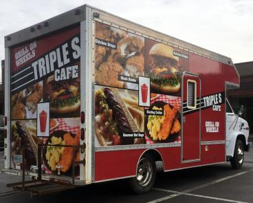 Photographic Food Truck Wrap