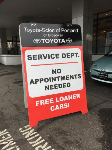 Toyota-Scion of Portland on Broadway A-Frame Signage