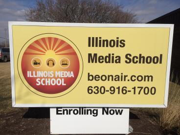 Outdoor Sign - Illinois Media School - Lombard