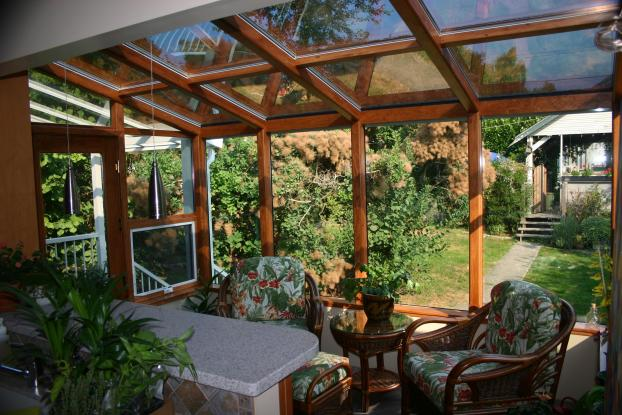 System 9 Wood Post and Beam Sunroom