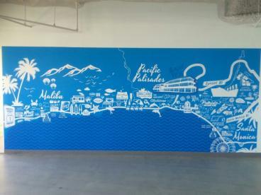 Pacific Palisades Wall Mural
