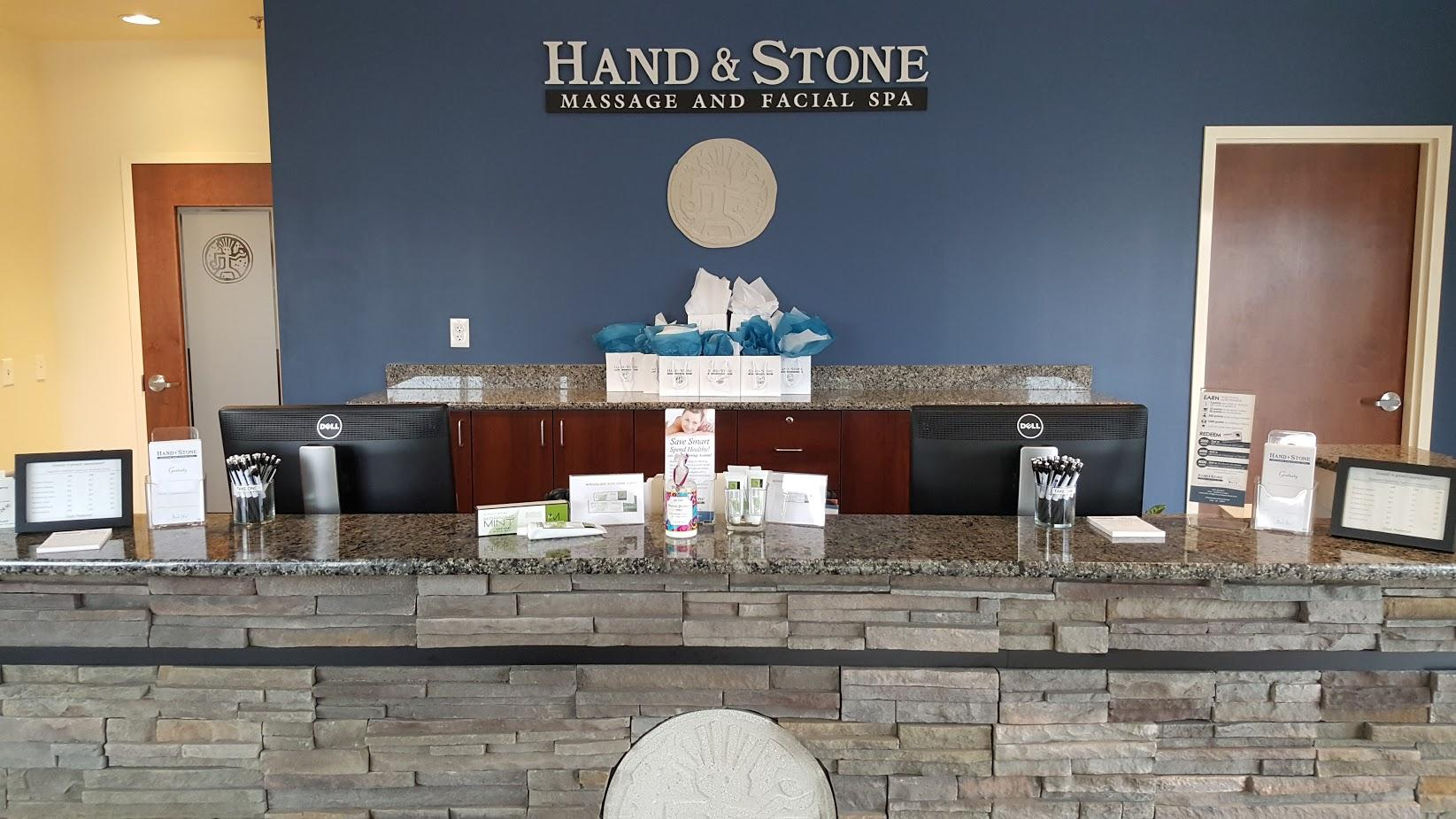 Welcome Desk at Hand & Stone