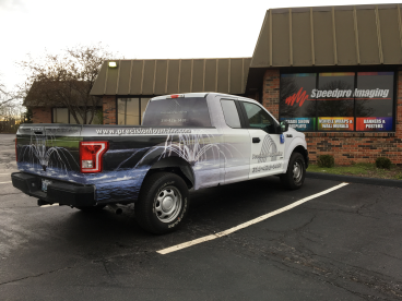 Recent vehicle wrap for Precision Fountains!