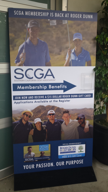 SCGA  Freestanding Display Boards with Brochure Holder Attached