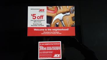 Broadway Ace Hardware -Promotional Flyers & Post Cards