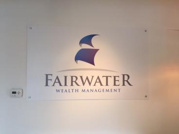 Wall Sign - FairWater Wealth Management - Downers Grove