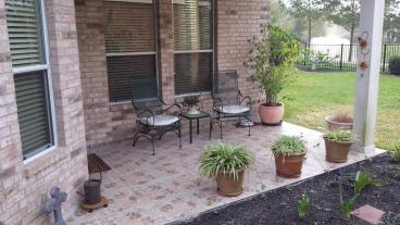 Outdoor tile work - after in League City TX