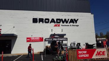 Broadway Ace Hardware  - Event Tent, Exterior Banners