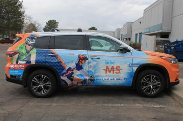 Car Wrap for National MS Society Denver, CO