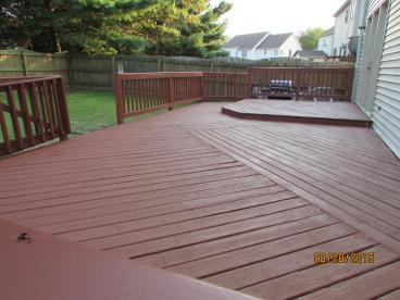 After, Deck Painted, Stained, Restored, Repaired, in Spotslyvania