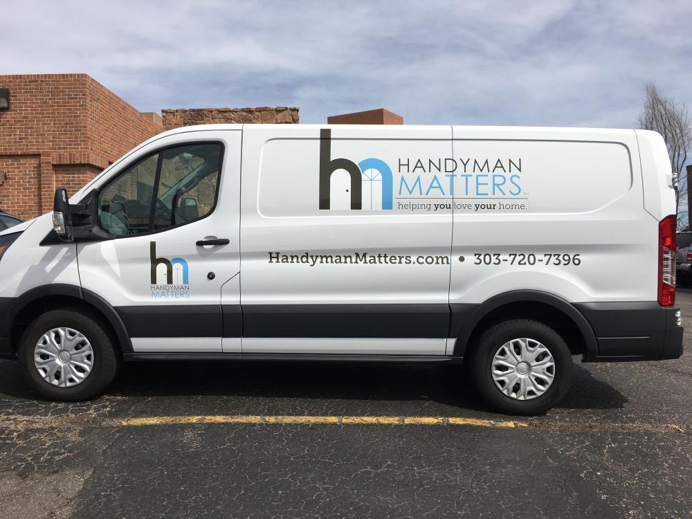 Picture of new Service van, serving the North Metro Denver Area