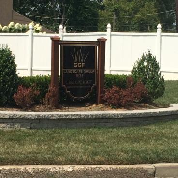 Outdoor business Sign GGF Landscaping