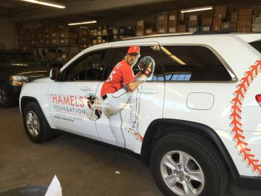 Hamels Foundation Jeep Texas Rangers