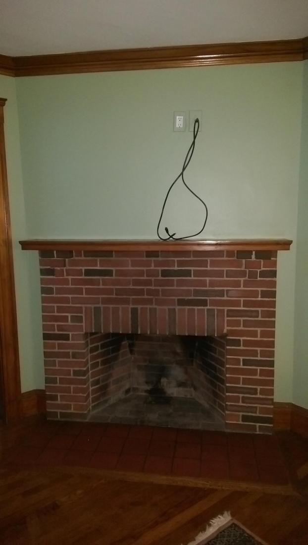 Fireplace (Before) - Medford
