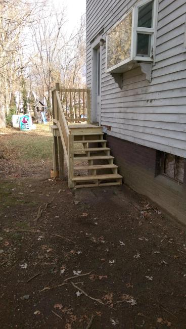 Exterior stairs - Wayland
