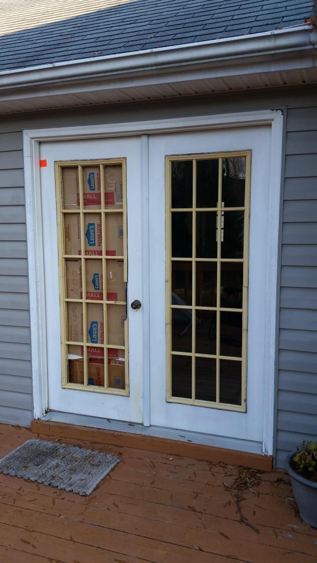 Before Door Replacement, Damaged Door, Rotten Door,