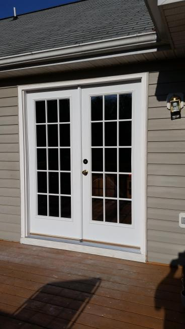 After French Door replacement,