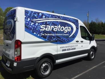 Saratoga Transit Van Wrap