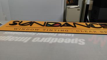 Indoor Signage: Sundance Window Tinting  (Metro Denver)