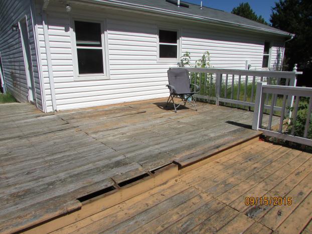 Before Deck in Mechanicsville VA