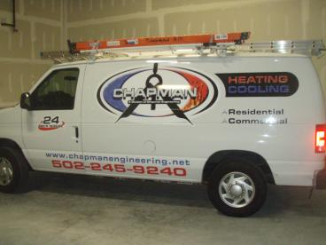Vehicle Wrap for Chapman Heating and Cooling In Louisville, KY