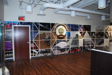 Wall Mural for Steel City Displays for their client St. Gobain