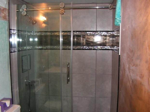 After photo of Ceramic Tile Shower Completed in Washington, PA