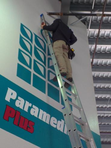 Paramedics Plus wall graphics