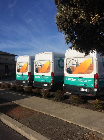 Clutter van vehicle wraps