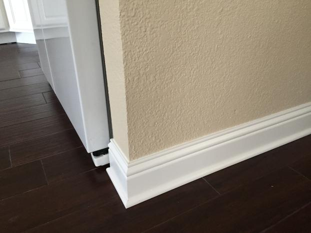 Baseboards and tile