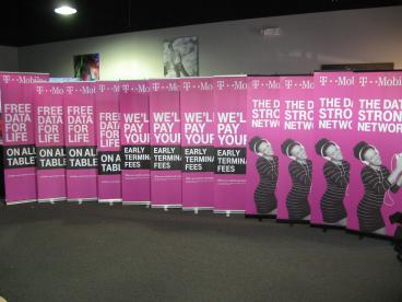 Retractable Banner Stands for T-Mobile Tempe Chandler Arizona