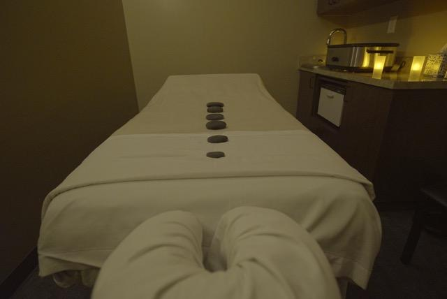 Treatment Room with our Hot Stones