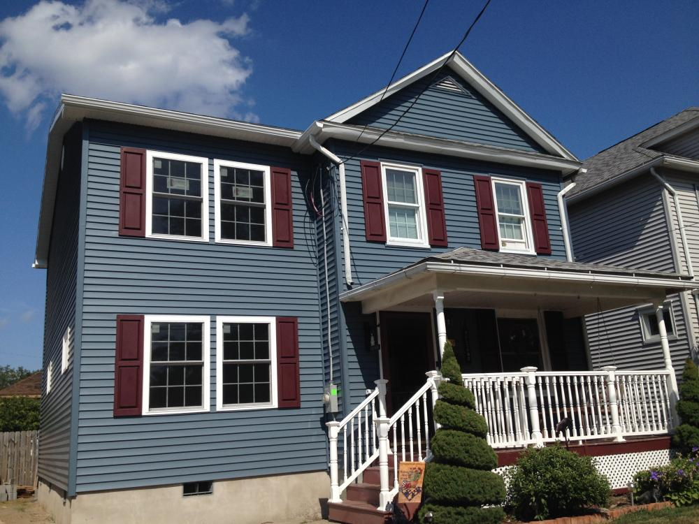 After Photo of Two Story Addition, New Vinyl Siding and Roofing Installation in Forty Fort