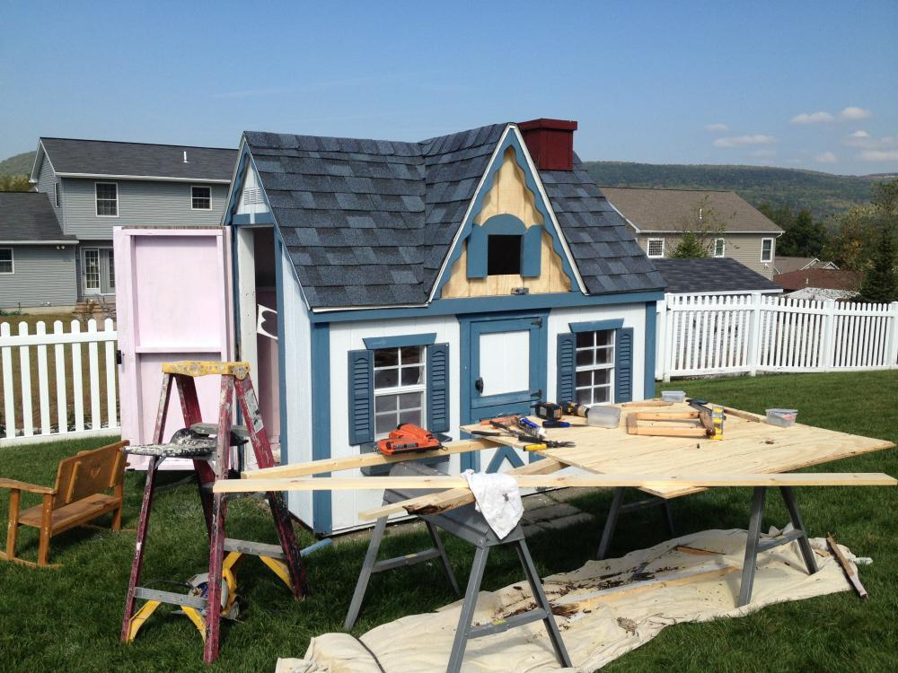 Carpentry Work on Playhouse in Duryea