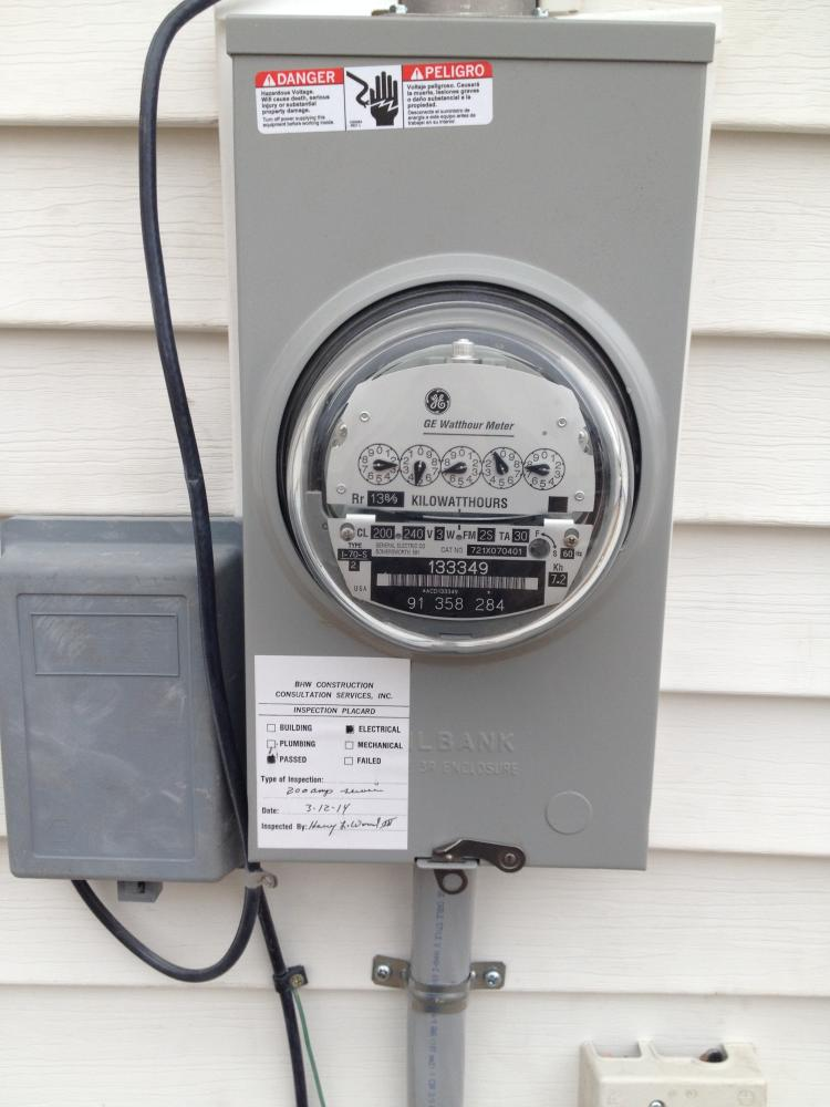 Electrical Service Meter and Base Installation in Larksville
