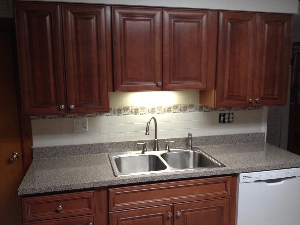 Kitchen Cabinet, Tile Backsplash and Countertop Installation in West Pittston