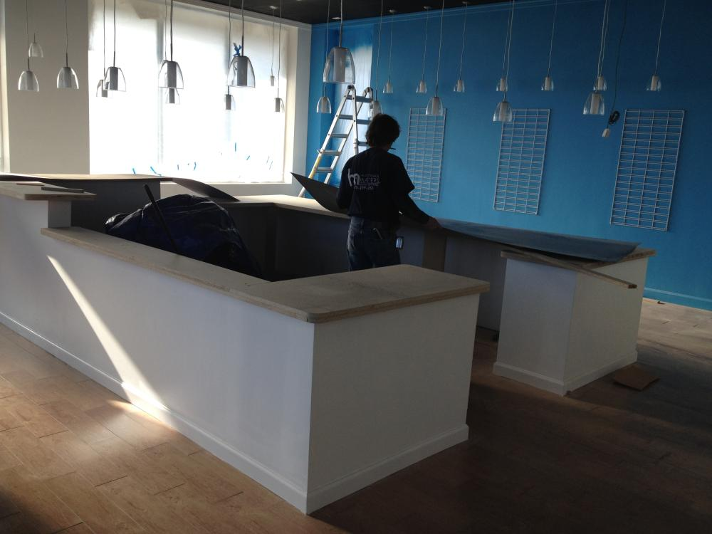 Countertop Installation at Commercial Project in Edwardsville