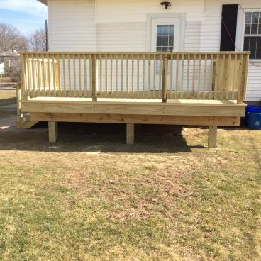 After Our Pressure Treated Deck Installation in Swoyersville