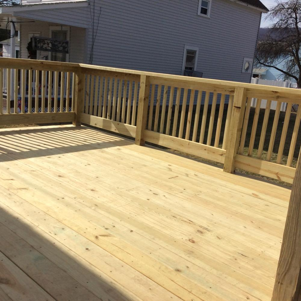 Our Pressure Treated Deck Installation in Swoyersville