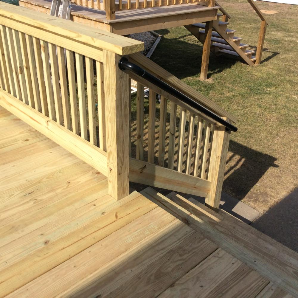 After Our Pressure Treated Deck and Steps Installation in Swoyersville