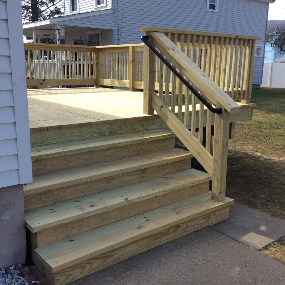 Pressure Treated Deck and Steps Installation in Swoyersville