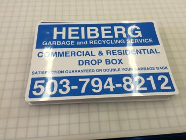 Heiberg Garbage and Recycling  Decals/Stickers