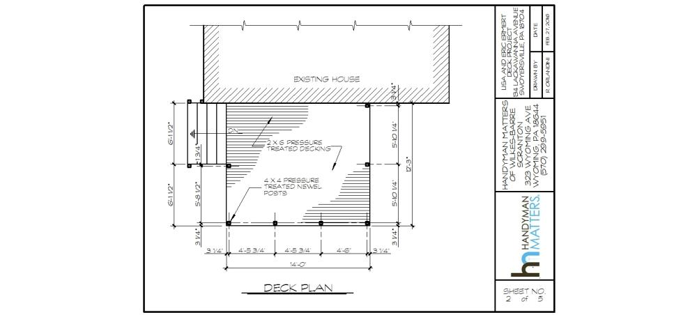 Deck Installation Design Plan