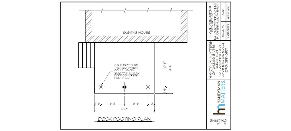 Deck Installation Design Footing Plan